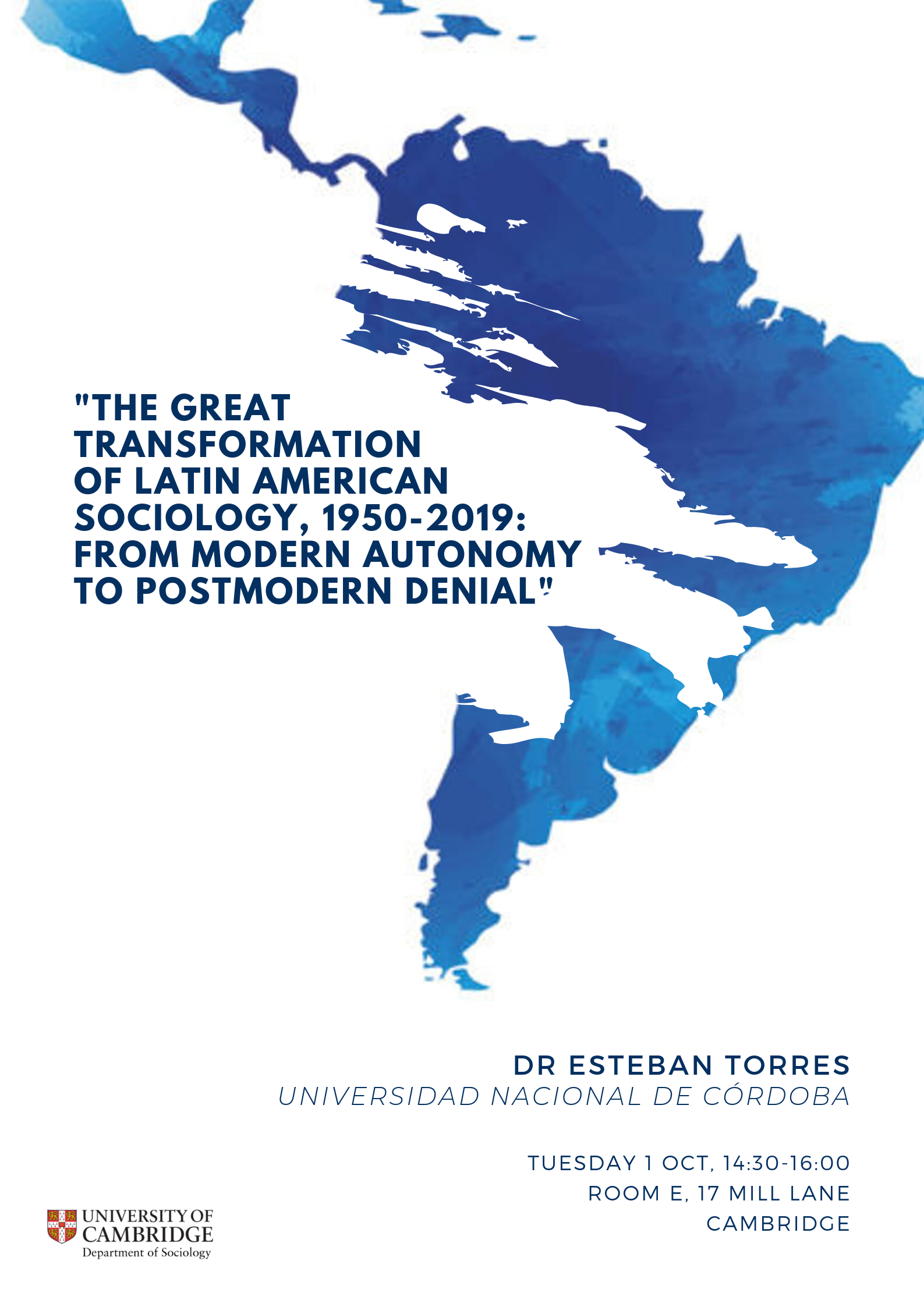 Dr Torres Latin American Sociology Lecture