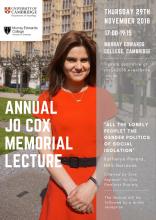 Jo Cox Memorial Lecture