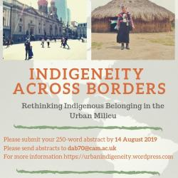 Indigeneity across Borders: Rethinking Indigenous Belonging in the Urban Milieu