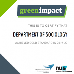 Read more at: Department awarded gold rating in 2019-2020 Green Impact Awards